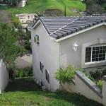 new hillside home construction